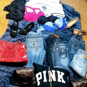 **Lot of Namedrop Jeans, bras,hoodies boots shirts